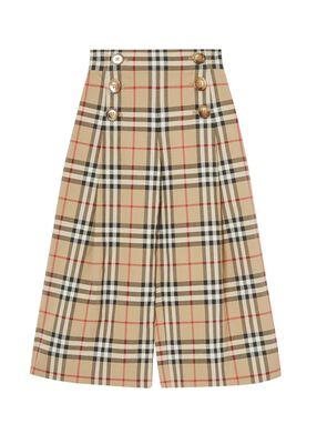 Vintage Check Cotton Sailor Trousers