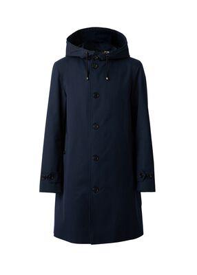 Cotton Gabardine Hooded Coat