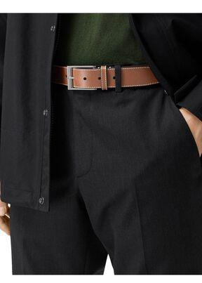 Topstitched Leather Belt, , hi-res
