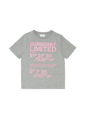 Coordinates Print Cotton T-shirt