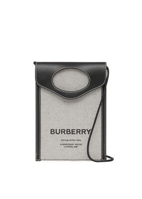 Two-tone Canvas and Leather Pocket Phone Case