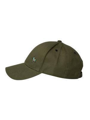 Men's Khaki Cotton Zebra Logo Baseball Cap, , hi-res