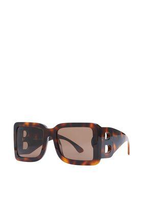 B Motif Square Frame Sunglasses