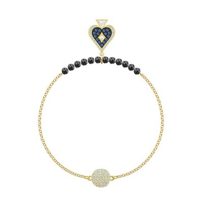 Remix Collection Spade Strand Multi-Colored Gold-Tone Plated Bracelet 5511091