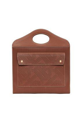 Medium Perforated Monogram Leather Pocket Bag