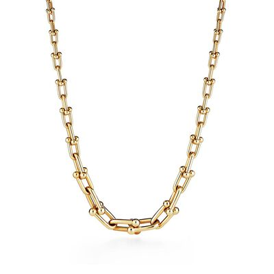 Tiffany City HardWear graduated link necklace in 18k gold - Size 18 in