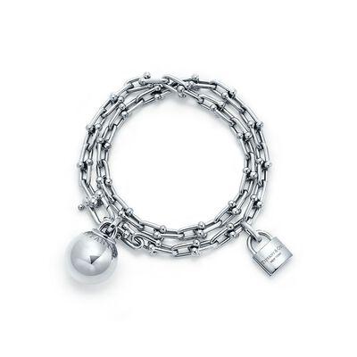 Tiffany City HardWear wrap bracelet in sterling silver, large