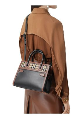 Mini Leather and Vintage Check Two-handle Title Bag, , hi-res