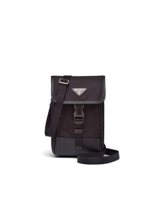 Re-Nylon and Saffiano leather smartphone case
