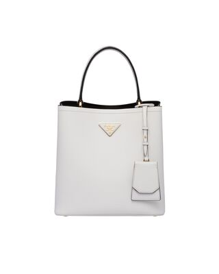 Medium Saffiano Leather Prada Panier Bag
