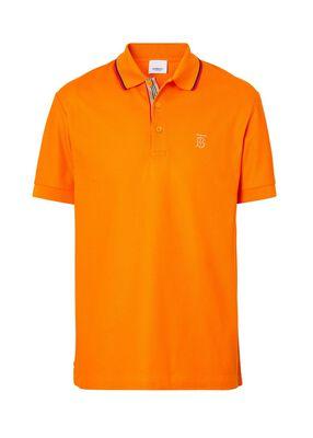 Monogram Motif Cotton Piqué Polo Shirt