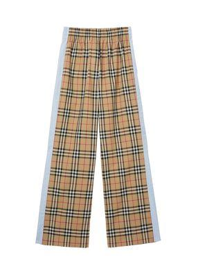 Vintage Check Stretch Cotton Trousers