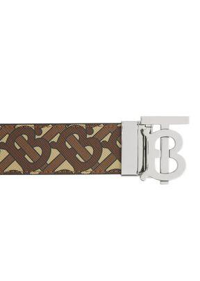 Reversible Monogram Motif E-canvas and Leather Belt, , hi-res
