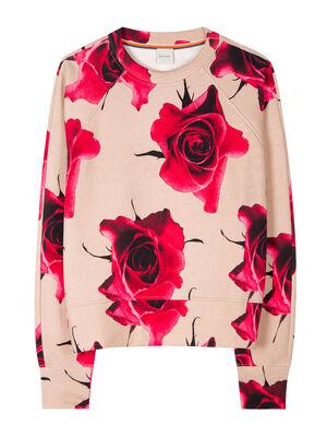 Women's 'Monarch Rose' Print Cotton Sweatshirt