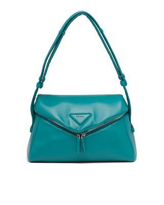 Padded nappa leather Prada Signaux bag
