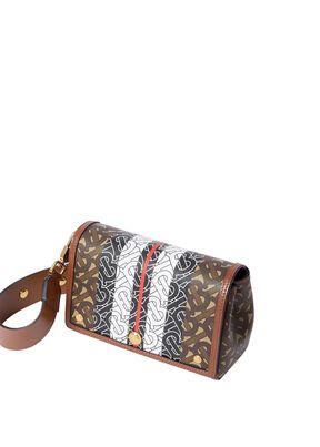 Small Monogram Stripe E-canvas Crossbody Bag, , hi-res