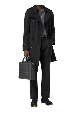 London Check and Leather Briefcase, , hi-res