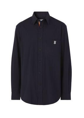 Monogram Motif Technical Cotton Shirt