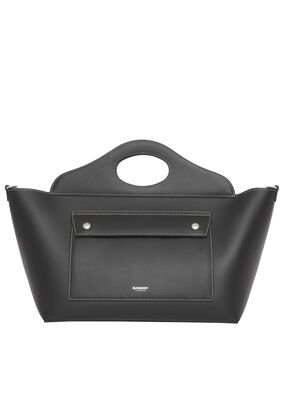 Small Leather Soft Pocket Tote