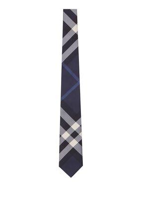 Classic Cut Check Silk Tie#