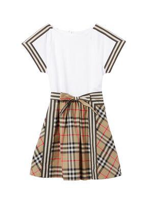 Vintage Check Detail Cotton Dress, , hi-res