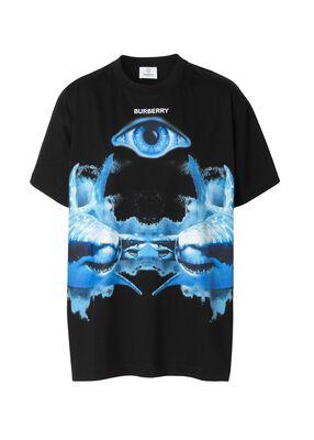 Shark Print Cotton Oversized T-shirt