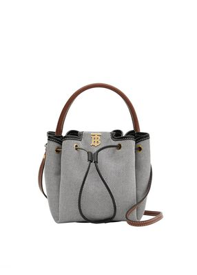Monogram Motif Canvas and Leather Bucket Bag