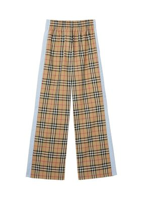 Vintage Check Stretch Cotton Trousers