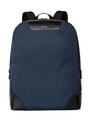 Men's Navy Canvas Travel Backpack