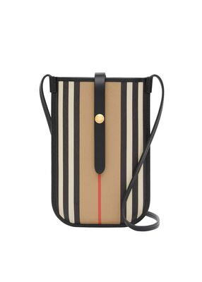 Icon Stripe E-canvas Anne Phone Case with Strap