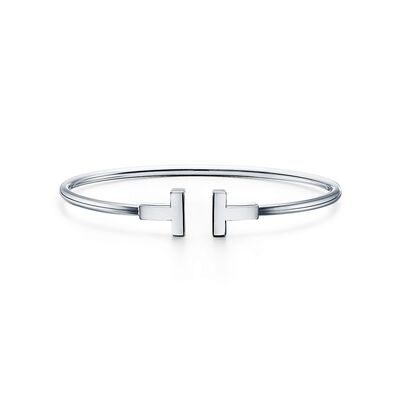 Tiffany T wire bracelet in 18k white gold