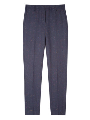 Women's Classic-Fit Navy Flecked Wool-Blend Trousers