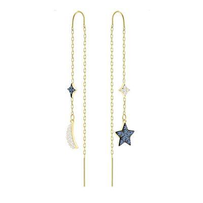 Duo Moon Pierced Earrings