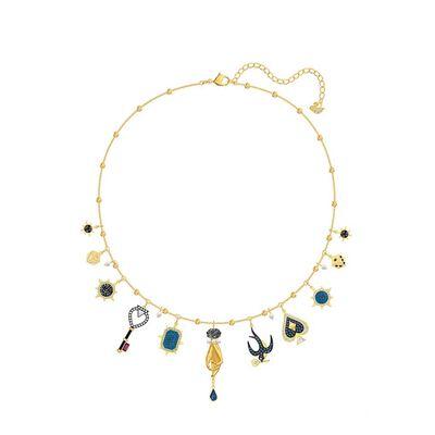 Tarot Magic Necklace Multi-colored - Gold-tone Plated
