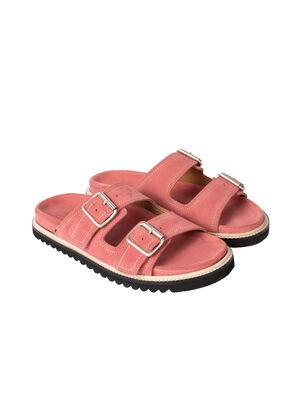 Women's Pink Suede 'Phoenix' Sandals, , hi-res