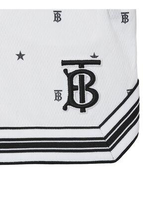 Star and Monogram Motif Jersey Mesh Shorts, , hi-res