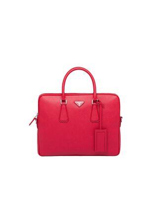 Saffiano Leather Work Bag