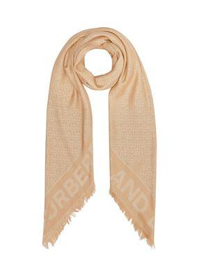 Monogram Silk Wool Jacquard Large Square Scarf