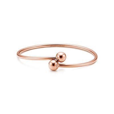 Tiffany City HardWear ball bypass bracelet in 18k rose gold, medium