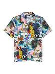 Men's 'Pulp' Print Organic-Cotton Short-Sleeve Shirt, , hi-res