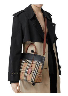 Small Vintage Check Society Top Handle Bag, , hi-res