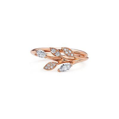 Tiffany Victoria® diamond vine ring in 18k rose gold