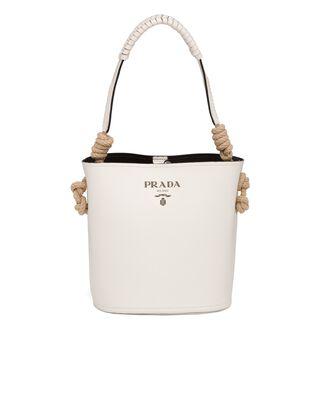 Leather Prada Tambour Bucket Bag