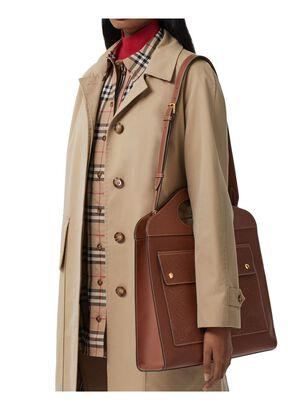 Medium Perforated Monogram Leather Pocket Bag, , hi-res