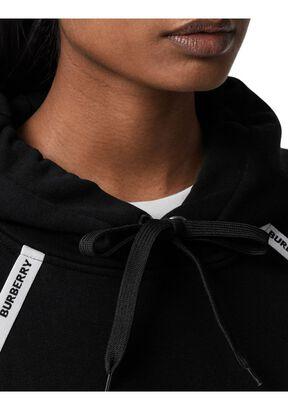 Logo Tape Cotton Oversized Hoodie, , hi-res