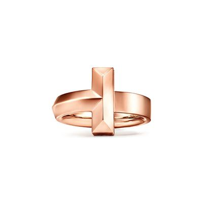 Tiffany T T1 Ring in Rose Gold, 4.5 mm - Size 7 1/2