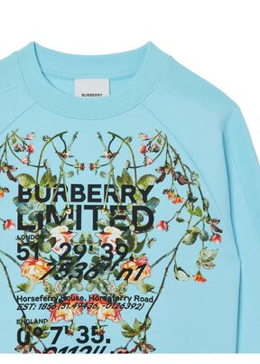 Montage Print Cotton Sweatshirt, , hi-res