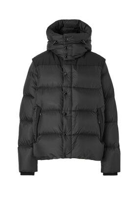 Detachable Sleeve Hooded Puffer Jacket