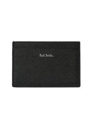 Men's Black Leather 'Mini' Print Credit Card Holder, , hi-res