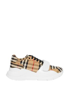 Vintage Check Cotton Sneakers